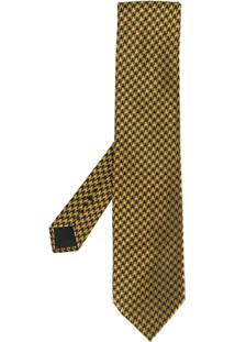 Tom Ford Gravata Com Padronagem Pied De Poule - Amarelo