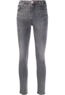 Philipp Plein Calça Jeans Original Slim - Cinza