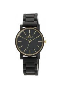 Relógio Feminino Redear Madeira Sj1608 - Ebony