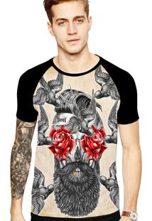 Camiseta Stompy Tattoo Rock Collection 93 Preto