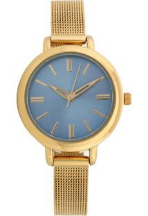 Relógio Mondaine 76616Lpmvde3 Dourado/Azul