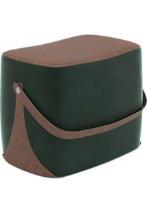 Puff Bag Verde E Marrom
