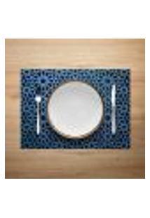 Jogo Americano 6Pçs Abstrato Azul Marinho - Mdecore