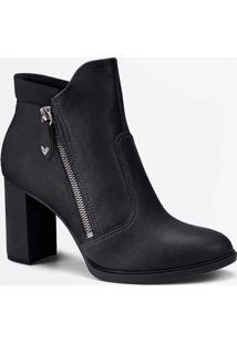Bota Feminina Ankle Boot Salto Grosso Mississipi