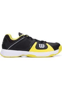 Tênis Wilson Rush 2 Preto E Amarelo-44 - Masculino