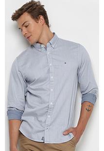 Camisa Tommy Hilfiger Ml Regular Fit Masculina - Masculino