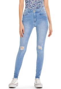 Calça Azul Claro Push Up Jeans