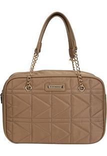 Bolsa Queens Mini Bag Matelassê Feminina - Feminino-Bege