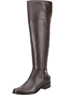 Bota Encinas Leather Montaria Over Knee Feminina - Feminino-Café