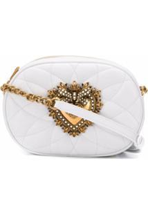 Dolce & Gabbana Bolsa Transversal Devotion - Branco