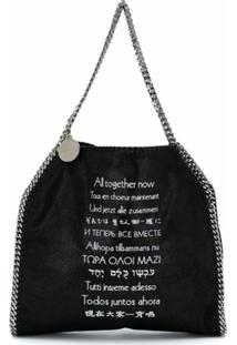 Stella Mccartney Bolsa Tote X The Beatles Falabella All Together Now - Preto