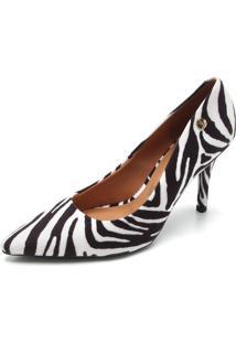 Scarpin Vizzano Zebra Branco