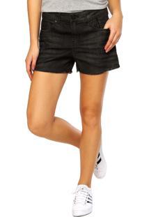 Bermuda Jeans Ellus 2Nd Floor Black Sand Elastic Preta