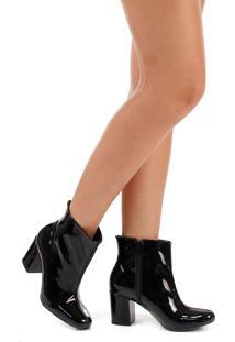 Ankle Boots Salto Grosso Lara Jacquard