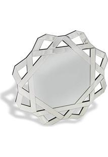 Espelho De Parede Octógono Com Borda Trabalhada 71Cmx71Cm 71Cm X 71Cm Nakine