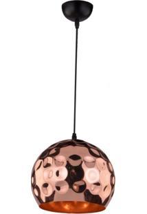 Pendente Cúpula Em Aço E Detalhes Circulares 3024 Taschibra Cobre
