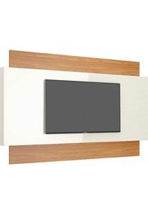 Painel Para Tv 58 Polegadas Morisot I Off White E Freijó