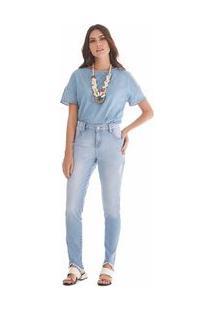 Calça Maria.Valentina Skinny M. Julia Cós Intermediário Barra Diferenciada Jeans