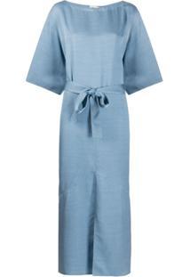 Filippa K Vestido Ella Com Cinto - Azul