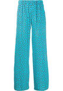 P.A.R.O.S.H. Calça Com Estampa De Coração - Azul