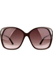Óculos De Sol Bulget Feminino - Feminino-Marrom