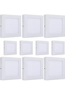 Luminária Painel Led Plafon Sobrepor Quadrado 25W Branco Quente