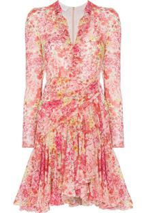 Giambattista Valli Vestido Floral - Rosa