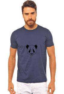 Camiseta Joss Azul Marinho Estampada Panda