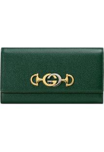 Gucci Carteira Continental Gucci Zumi - Verde