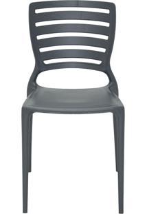 Cadeira Sofia Encosto Vazado Grafite Tramontina
