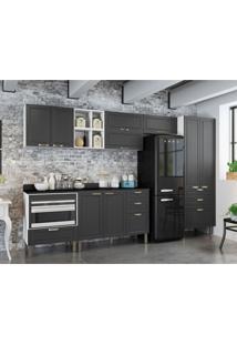 Cozinha Compacta Nevada Iv 9 Pt 7 Gv Grafite E Branca