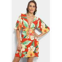 Vestido Farm Rosa Feminino Shoelover