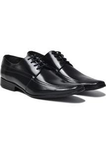 Sapato Social Lsb Shoes Confort Espumado Masculino - Masculino-Preto