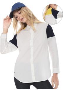 Camisa Lacoste Logo Branca