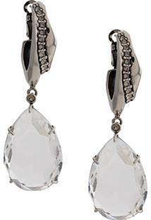Alexander Mcqueen Crystal Pendant Earrings - Prateado