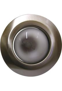 Luminária De Teto Embutido Fixo E-27 60W Com Lâmpada Refletora 220V Escovado