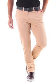 Calça 3015 Sarja Areia Traymon Modelagem Slim