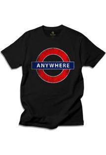 Camiseta Cool Tees Londres Masculino - Masculino-Preto