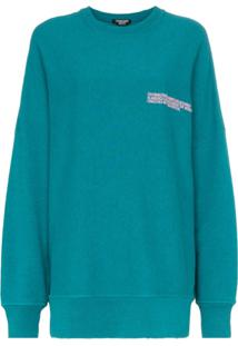 Calvin Klein 205W39Nyc Suéter Oversized Com Logo Bordado - Verde