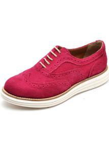 Sapato Oxford Casual Camurça Q&A 300 Rosa