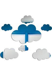 Espelho Love Decor Decorativo Nuvens Único