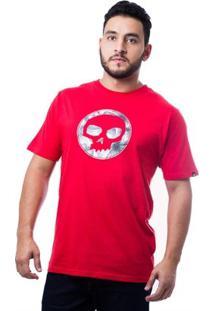 Camiseta Basica Eclipse Masculina - Masculino-Vermelho
