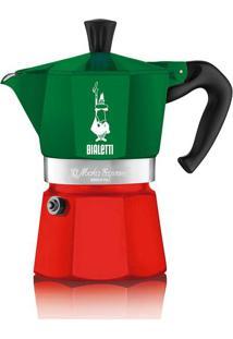 Cafeteira Moka Express 6 Xícaras Italia Verde E Vermelha Bialetti