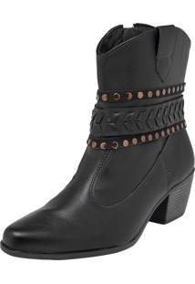 Bota Dafiti Shoes Country Tressê Preta