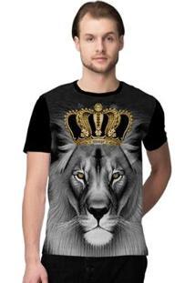 Camiseta Stompy Lion King Masculina - Masculino-Preto