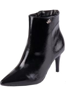 Bota Via Marte Ankle Boot Preto 36
