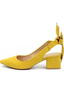 Scarpin Chanel Equipage (975494) Nobuck Amarelo