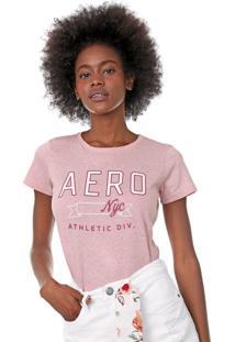 Camiseta Aeropostale Lettering Rosa - Kanui