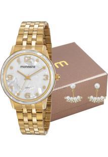 Kit Relógio Mondaine Feminino Com Brincos 53777Lpmvde1K1