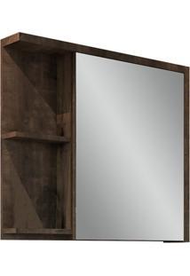 Espelheira Para Banheiro Nikko 64X68,5Cm Bourbon